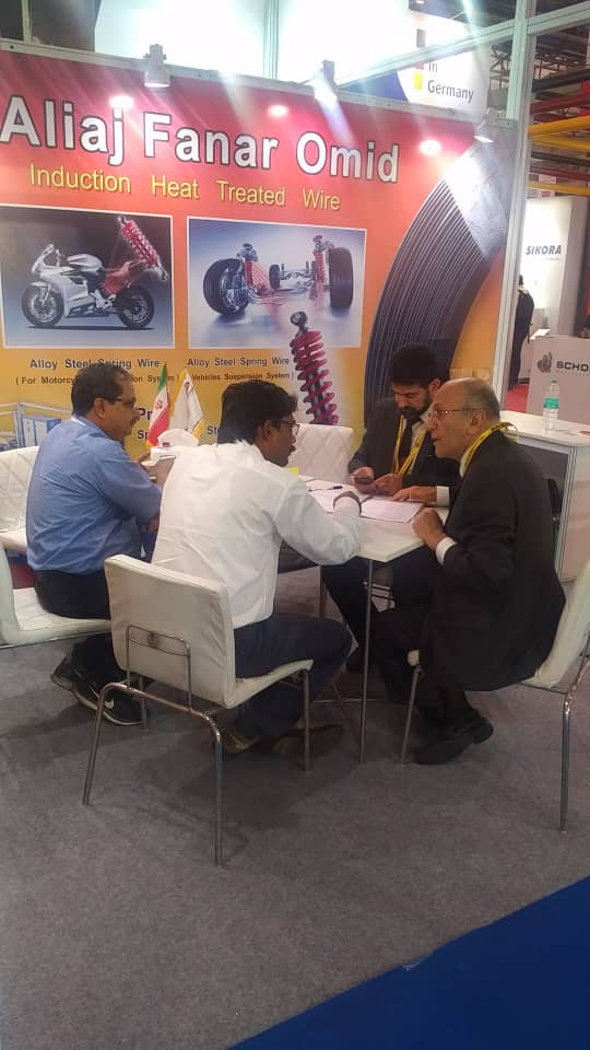 The  presence of Aliaj Fanar Co. Ltd.  &  Omid  Fanar Co. Ltd.  in  Mumbai  International  Wire  Exhibition  2018